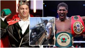 Heavyweight world champs Tyson Fury and Anthony Joshua come face to face in chance meeting on sunshine break in Marbella (PHOTO)