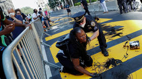 'Jesus matters!' WATCH Christian activist dump paint on de Blasio's 'Black Lives Matter' mural in New York