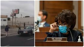 Viral video shows Rep. Maxine Waters rush to rescue black motorist pulled by police