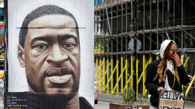 George Floyd memorial in Manchester covered up after vandals scrawl racist graffiti across artwork