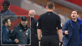'I'm not asking you!' Chelsea boss Lampard tells Liverpool coach Klopp to 'SHUT UP' in sweary Premier League touchline row (VIDEO)