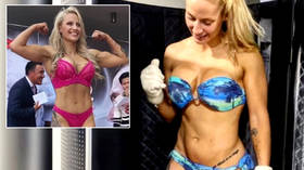 'Who needs OnlyFans?' Bombshell boxer flogs DIRTY SOCKS to fan for hundreds of dollars – then says she'd sell panties for top cash