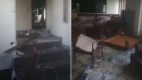 Vandals TRASH Venezuelan diplomatic compound in Colombia as tensions between the countries run high