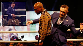'Big sweaty wet clatter': Ex-UFC champ McGregor recalls moment he mocked Mayweather by touching boxing great's HEAD before fight