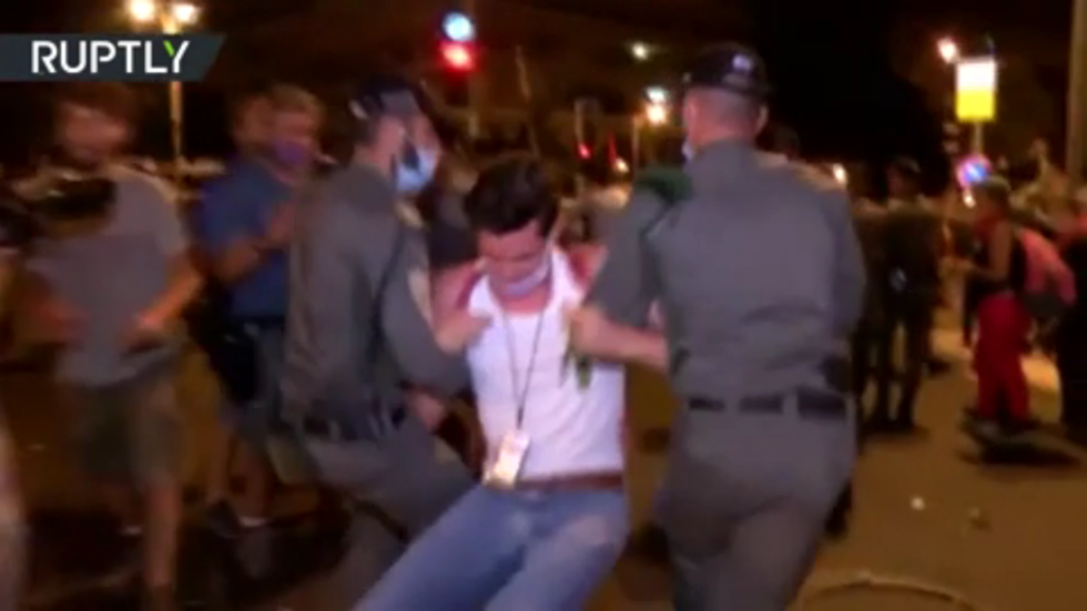 Police disperse anti-Netanyahu protesters outside PM's residence in Jerusalem (VIDEO)