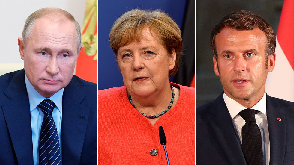 As EU talks sanctions, Putin warns Merkel & Macron foreign interference in Belarus' affairs is 'unacceptable' & could backfire