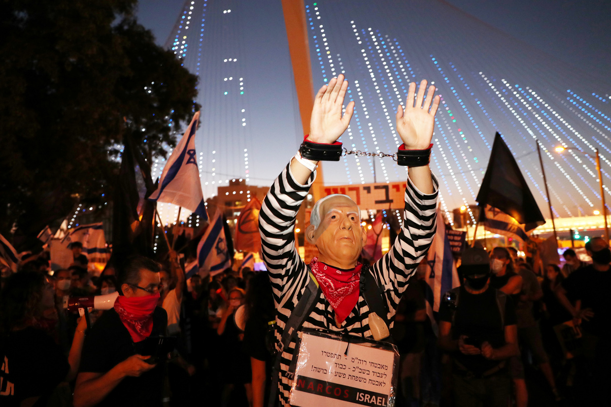 Protests against Israeli PM continue with momentum