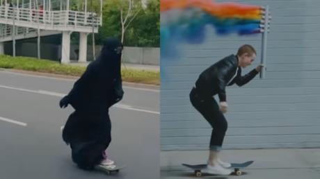 Two screenshots from Nike's