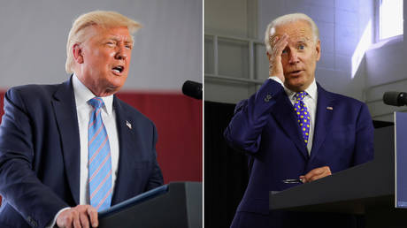 Donald Trump and Joe Biden © Reuters / Carlos Barria and Jonathan Ernst
