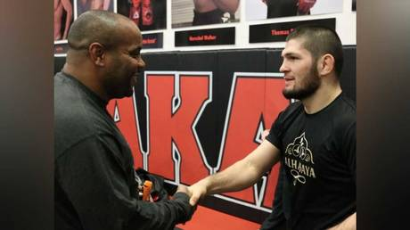 UFC heavyweight Daniel Cormier and teammate Khabib Nurmagomedov. © Instagram @khabib_nurmagomedov