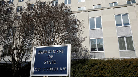 FILE PHOTO. The State Department Building is pictured in Washington, U.S., January 26, 2017.