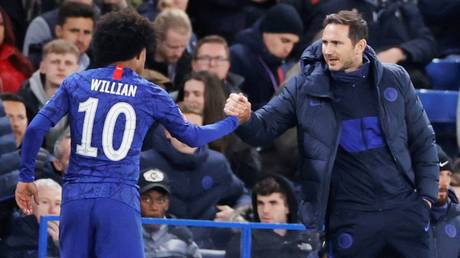 Set to split? Willian and Chelsea boss Frank Lampard