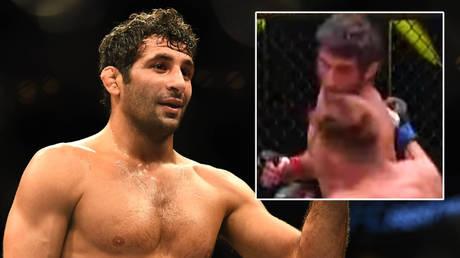 Beneil Dariush knocked out UFC rival Scott Holtzman © Ron Chenoy / USA Today Sports via Reuters
