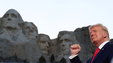 Donald Trump at Mount Rushmore in Keystone, South Dakota, US, July 3, 2020.