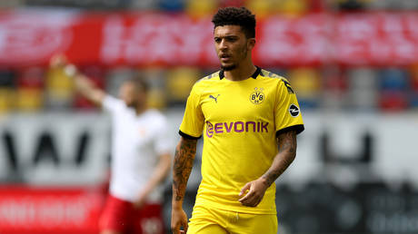 Borussia Dortmund star Jadon Sancho is set to remain at the club amid interest from Manchester United. © Getty Images