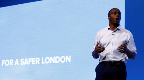 FILE PHOTO: Shaun Bailey, candidate for the 2020 London mayoral election speaks at the Conservative Party annual conference in Manchester, Britain October 1, 2019