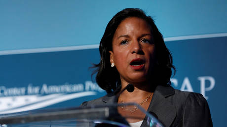 Former National Security Advisor Susan Rice speaks at the Centre for American Progress Ideas Conference in Washington, DC, May 16, 2017.