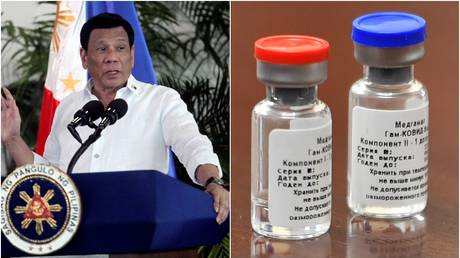 Philippines leader Duterte may be injected with Russian Covid-19 vaccine as early as May 2021 – spokesperson - rt