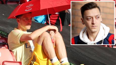 Sitting tight: Mesut Ozil says he won't be forced out of Arsenal