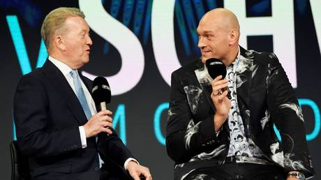 Promoter and fighter: Frank Warren and Tyson Fury