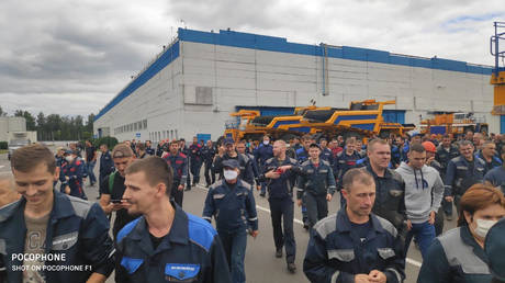 The protest at BelAZ. Coutecy TYT.by