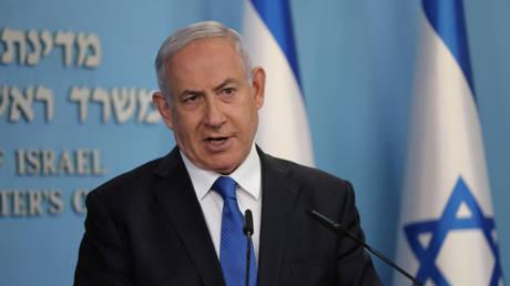 Israeli Prime Minister Benjamin Netanyahu speaks in Jerusalem on August 13, 2020.