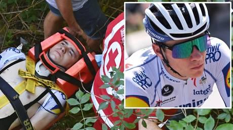 Lucky escape: Cyclist Remco Evenepoel