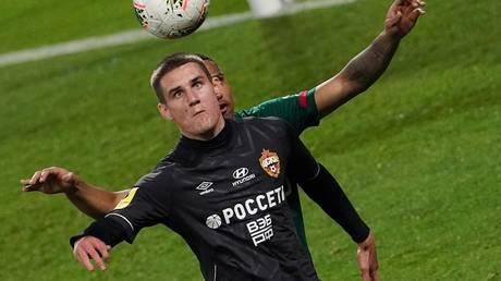 Protest: CSKA's Belarusian striker Ilya Shkurin