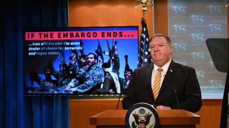 FILE PHOTO: U.S. Secretary of State Mike Pompeo June 24, 2020. © REUTERS / Mangel Ngan