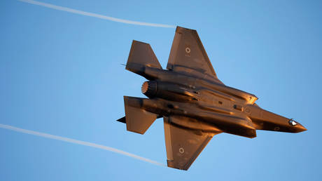 FILE PHOTO: An Israeli Air Force F-35 flies during a demonstration at the Hatzerim air base in southern Israel.