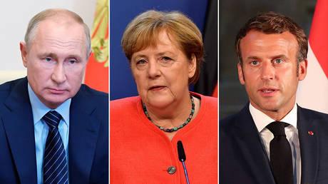 © Sputnik/Alexei Nikolsky/Kremlin via REUTERS; © Pool via REUTERS/John Thys; © AFP / POOL /Thibault Camus