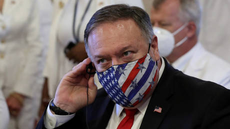 Say what? US Secretary of State Mike Pompeo (August 16, 2020 file photo).