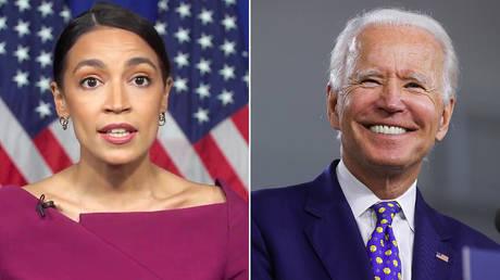 Alexandria Ocasio-Cortez and Joe Biden © Reuters / 2020 Democratic National Convention and Jonathan Ernst