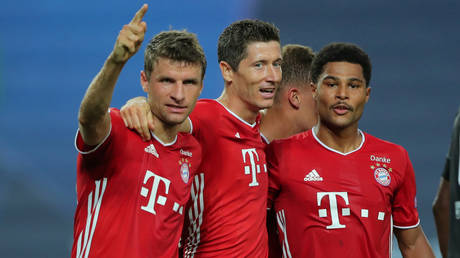 Bayern Muich set up a Champions League final against Lyon. © Reuters