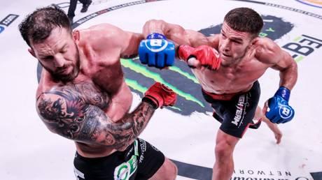 New champ: Vadim Nemkov hammered Ryan Bader in the main event of Bellator 244