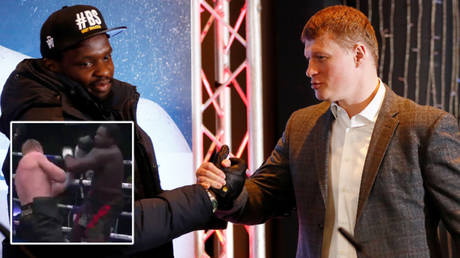 Dillian Whyte (left) suffered a knockout against Alexander Povetkin © Jason Cairnduff / Action Images via Reuters