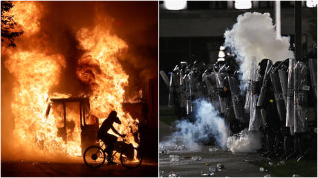 FILE PHOTOS: Scenes from two nights of protesting and violent unrest in Kenosha, Wisconsin after the police killing of Jacob Blake.