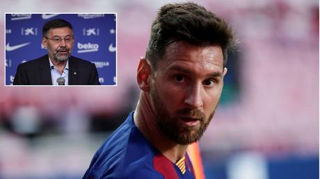 Lionel Messi and Barcelona president Josep Maria Bartomeu could be in for a legal showdown. © Reuters