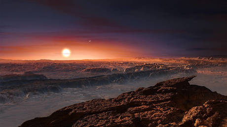 Discovered in 2016, Proxima b is roughly Earth-sized and orbits our nearest neighboring star. © ESO/M. Kornmesser