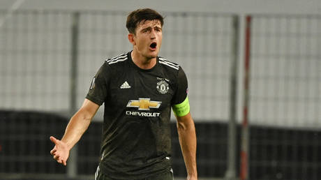 Manchester United and Englans star Harry Maguire. © Reuters