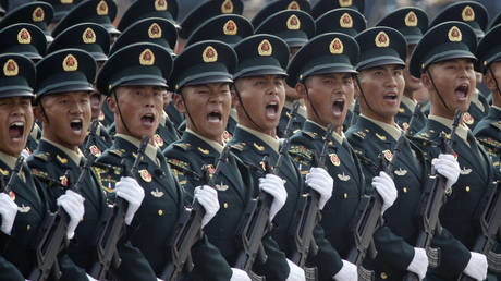 FILE PHOTO: Soldiers of People's Liberation Army (PLA)