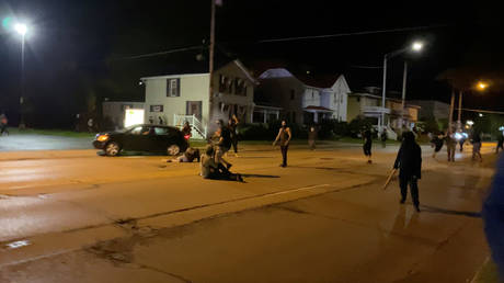 Kyle Rittenhouse opens fire after being chased by protesters in Kenosha, Wisconsin, US, August 25, 2020