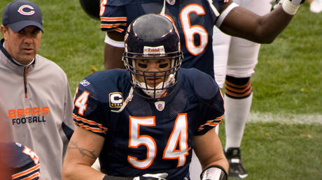 Brian Urlacher during his playing days as a Chicago Bears linebacker.