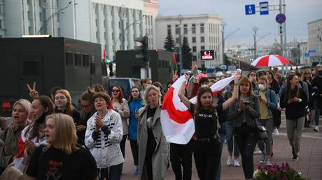 The participants of the protest action in Minsk.
