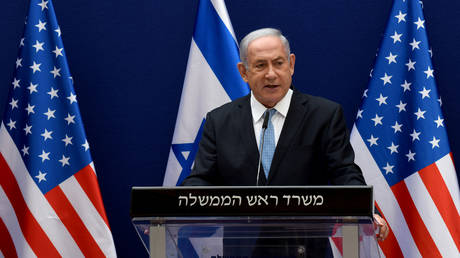 Israeli Prime Minister Benjamin Netanyahu speaks at a press conference in Jerusalem, on August 30, 2020.