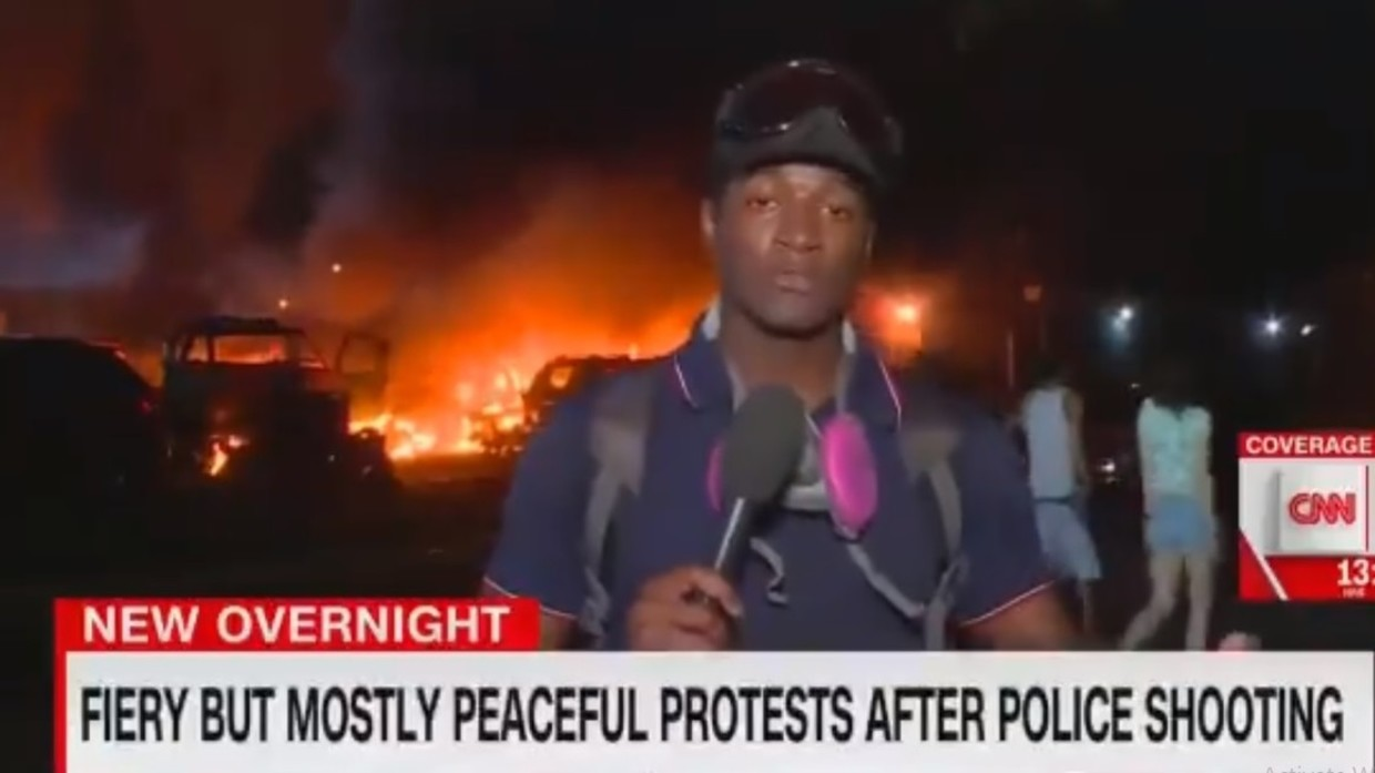 Fiery but mostly peaceful': CNN mocked for ridiculous caption of Kenosha riots destruction — RT USA News