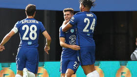 American dream: Chelsea's Christian Pulisic becomes FIRST American to net in FA Cup final – then limps off against Arsenal (VIDEO)