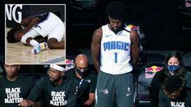'Karma': NBA star who refused to kneel for BLM is cruelly TAUNTED as he exits in wheelchair with knee injury (VIDEO)