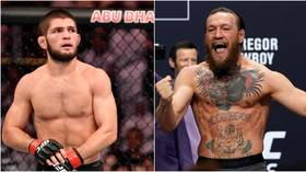Khabib will be 'sh*tting his pants' and trying to 'sniff Gaethje's jockstrap,' says Conor McGregor as he goads UFC rival