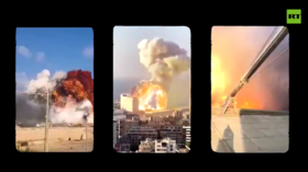 WATCH enormous Beirut blast from 15 synchronized camera angles as mystery surrounding its cause persists